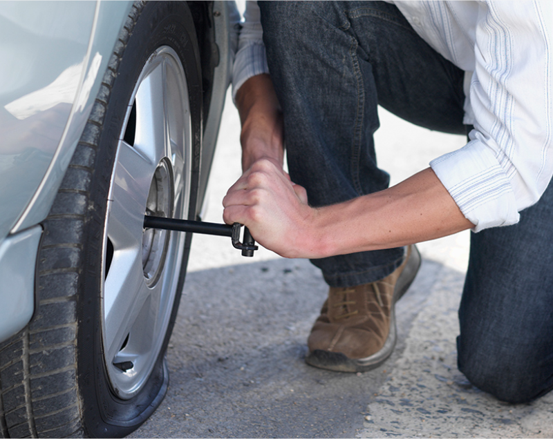 flat tyre support