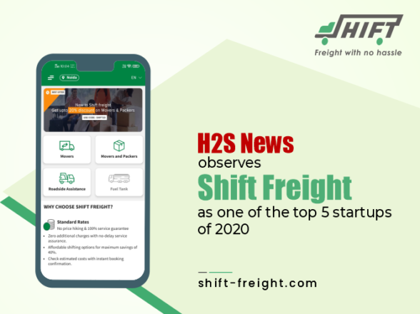 H2S News observes Shift Freight as one of the top 5 startups of 2020